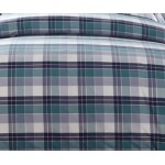 GCF031 checker pattern linen cotton fabric